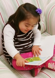 Children wth Down syndrome reading