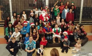 Christmas party for people with Down syndrome in the Fraser Valley of BC.